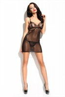 "Schwarzes Chemise ""Rebecca"" von Demoniq Elegant Angels Collection"