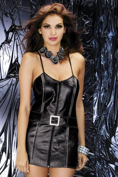 Obsessive Dessous Biker Dress Stretch Minikleid