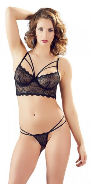 Spitzen BH Set schwarz Cottelli Collection