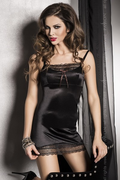 Passion Exclusive Dessous Negligee Evane edel in schwarz