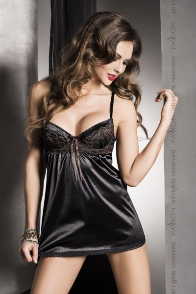 Passion Exclusive Dessous Negligee Sharon edel in Schwarz