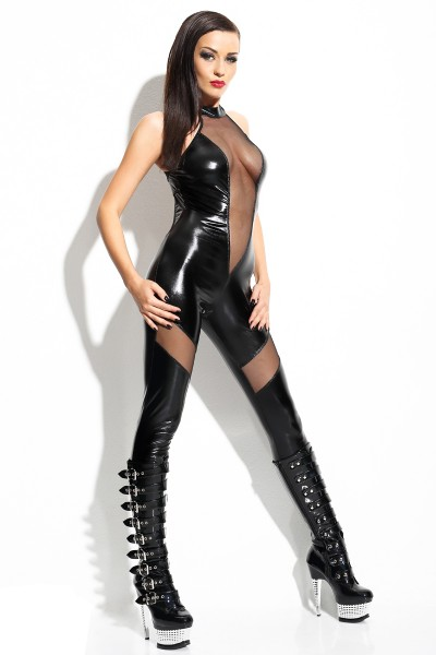 "Schwarzes Catsuit ""Ilse"" von Demoniq Mistress Collection"
